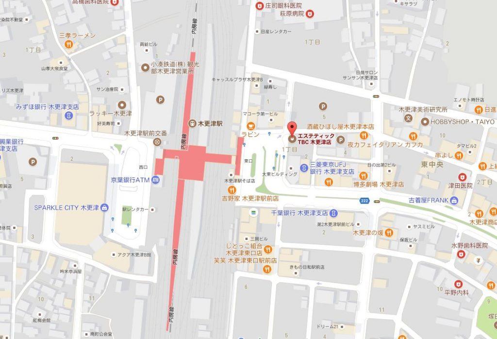 エステティック千葉TBC 所在地 地図の画像
