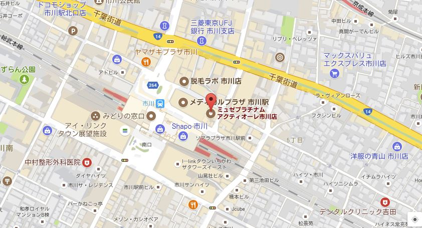 ミュゼプラチナム市川店 地図